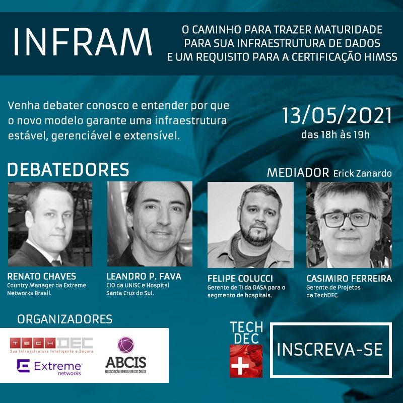 INFRAM - O Caminho para Trazer Maturidade para sua Infraestrutura de Dados e um Requisito para a Certificação HIMSS